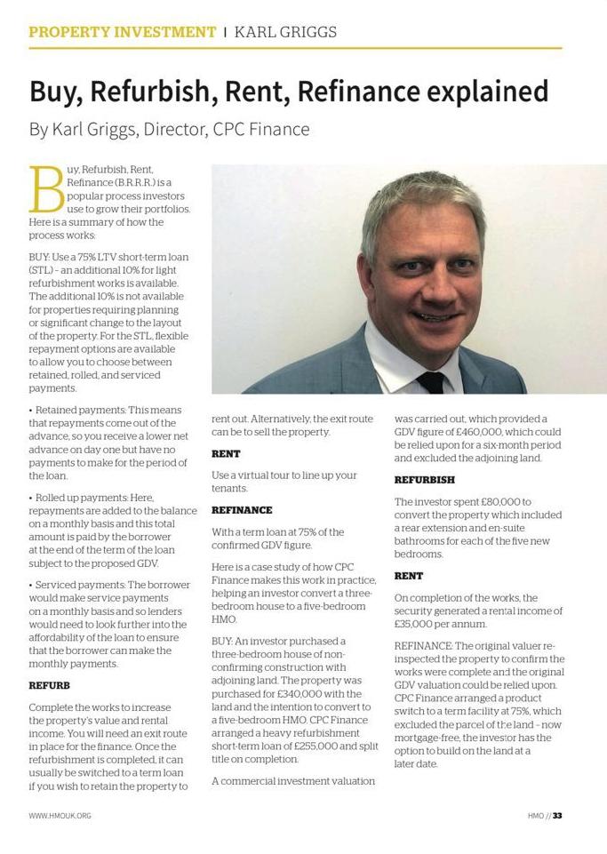 HMO Magazine B.R.R.R article